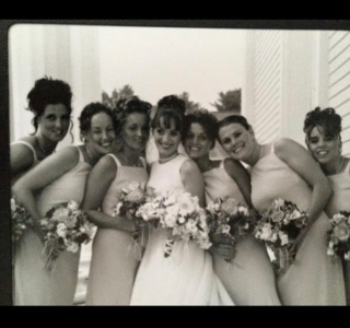 TBT to the early 2000's.  Just started my passion for doing wedding makeup when I was doing all of my friends weddings 😊 Dream Team was just starting then 😃 @ac.maneevent And we've been making bridal parties look gorgeous ever since ❤️ #lovewhatyoudo #dreamteam #hair #makeup #weddinghairandmakeup #besties